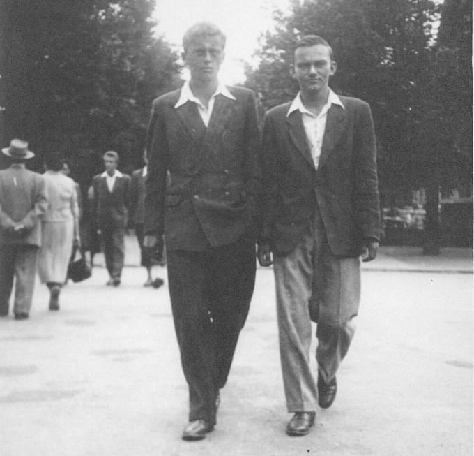 Zleva Ctirad Mašín a Vladimír Hradec