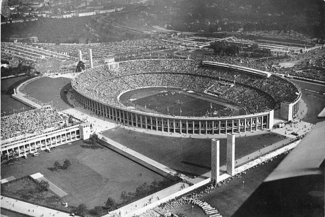 Olympijský stadion vBerlíně během her