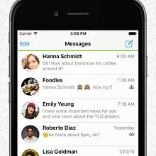 Screenshot aplikace Threema