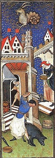 Středověcí řezníci rozhodně kčistotě ulic nepřispěli
