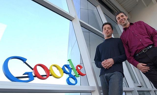 Spoluzakladatelé Googlu Larry Page a Sergey Brin v roce 2004