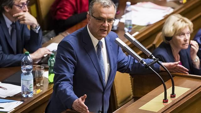 Miroslav Kalousek ve sněmovně.