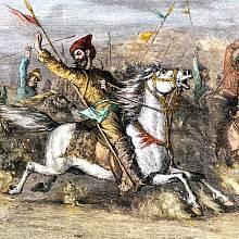 Čingischán při válečném tažení