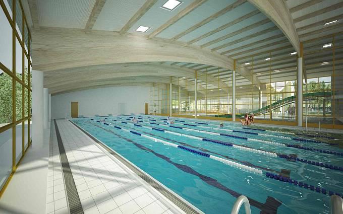 Vizualizace: Vnitřní 25metrový bazén