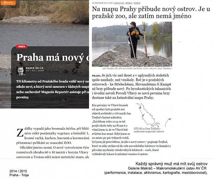 Lokátorské práce na nově objeveném ostrovu v pražské Tróji