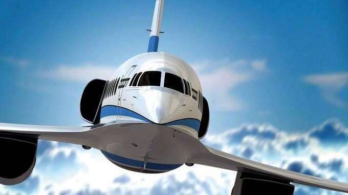 Prototyp nového nadzvukového dopravního letounu od firmy Boom Supersonic