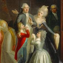 Ludvíkovo rozloučení s rodinou - Jean-Jacques Hauer