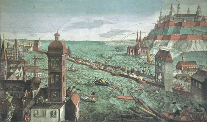 Zobrazení škod v bavorském Würzburgu