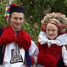 Mladý pár v tradičním kroji, Vlčnov
