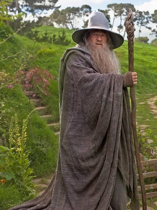Gandalf Iana McKellana, inspirovaný Howeovým obrazem