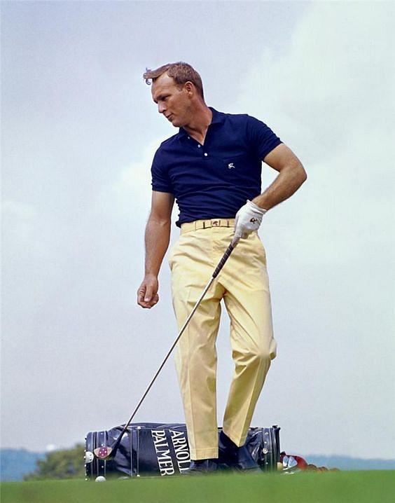Golfista Arnold Palmer vroce 1965, kdy už hrál jako profesionál.
