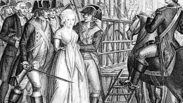 Marie Antoinetta při cestě na popravu