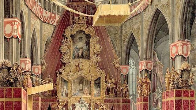 Korunovace Ferdinanda V. ve svatovítské katedrále v Praze