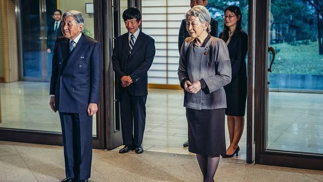 Japonský císař Akihito s císařovnou Mičiko