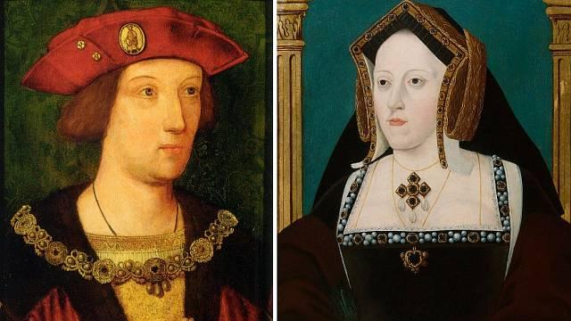 Kateřina Aragonská a její první manžel Artur Tudor