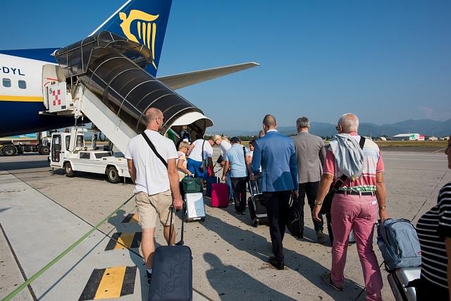 Letecké cestování, ilustrační foto