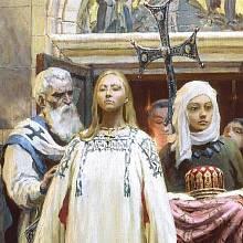 Kněžna Olga se krutě vypořádala s kmenem Drevljanů.