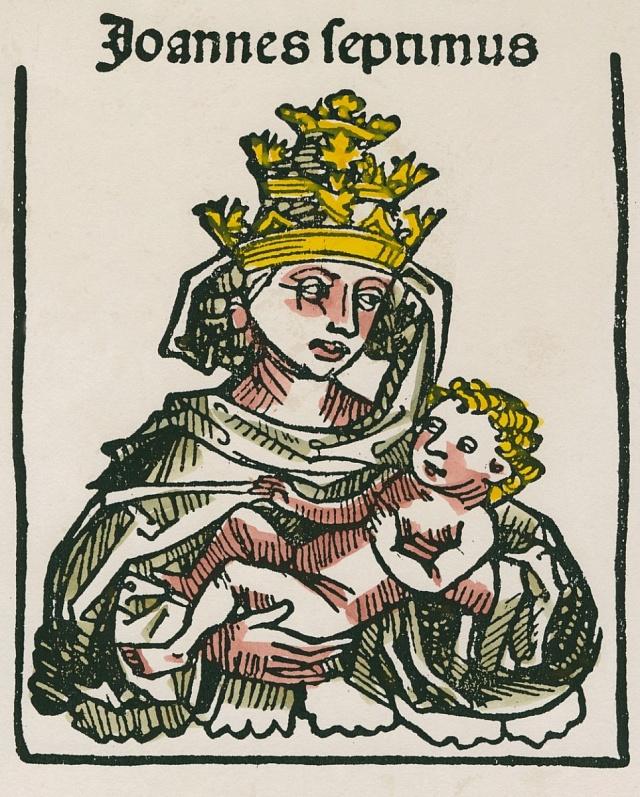 Papežka Jana sdítětem