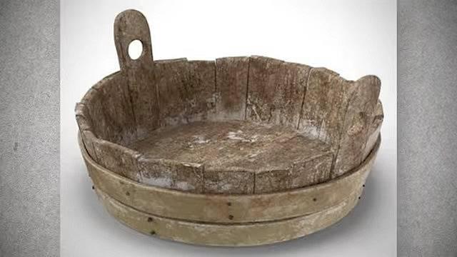 Dřevěná vědra byla předchůdcem moderní vany.