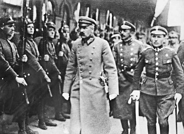 Autoritativní polský vládce Józef Piłsudski