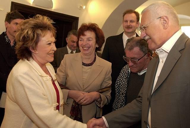 Jiřina Bohdalová a Václav Klaus (2003–2013)