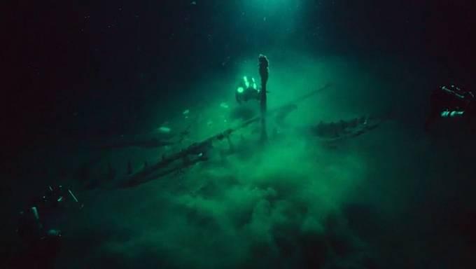 Vrak na dně Atlantiku nedaleko Rhode Islandu - pravděpodobně Endeavour