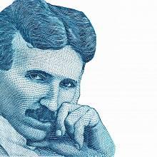 Portrét Nikoly tesly, dnes světově věhlasného vědce