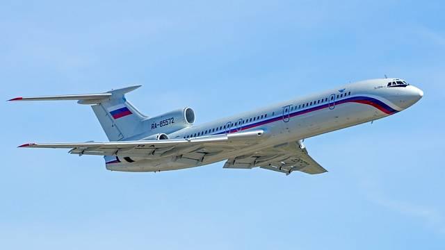 Letoun Tu-154, který se zřítil u Soči