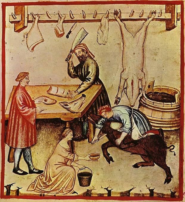 Řeznictví ve 14. století