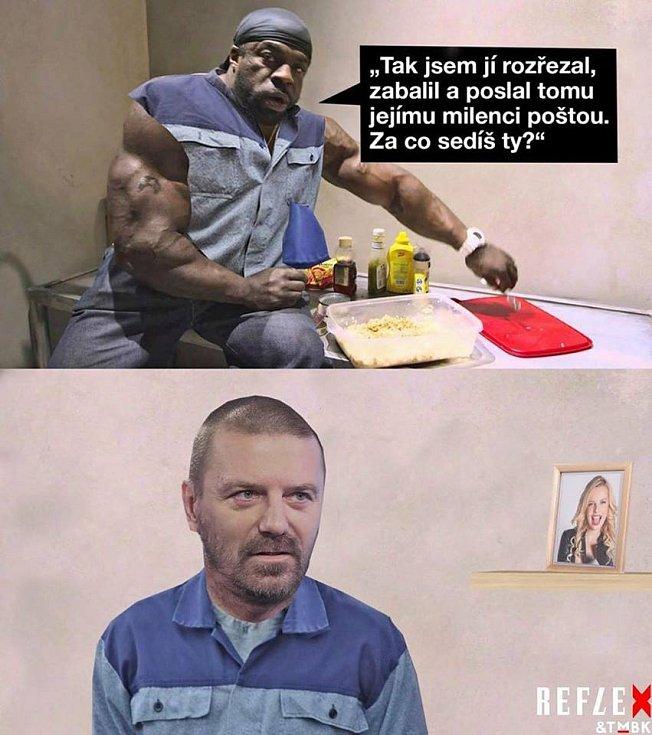 Další vtipy řešily jeho plánovaný pobyt za mřížemi