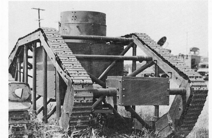 Neúspěšný prototyp amerického tanku Skeleton z roku 1918