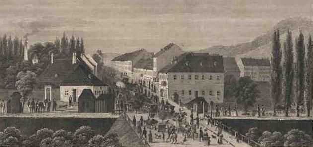 Pohled na Karlín v19. století