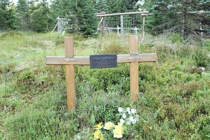 Křížek Jiřího Haby a Tomáše Hübnera v Jizerských horách