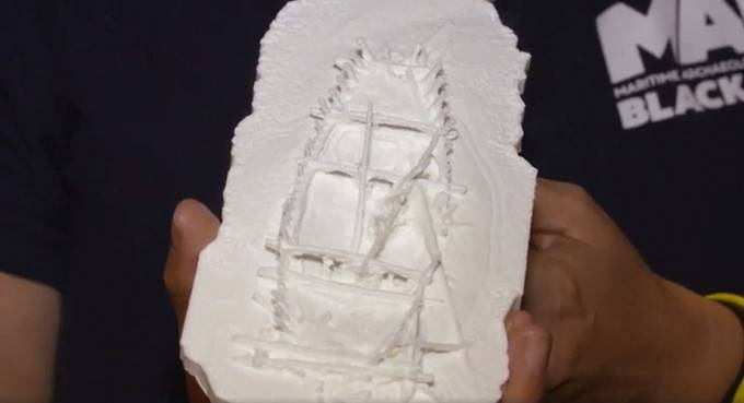 Model vraku vytvořený na 3D tiskárně