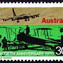 Silueta letounu se dostala i na australské poštovní známky.