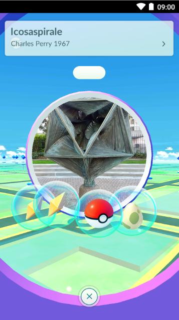 Screenshot aplikace Pokémon GO