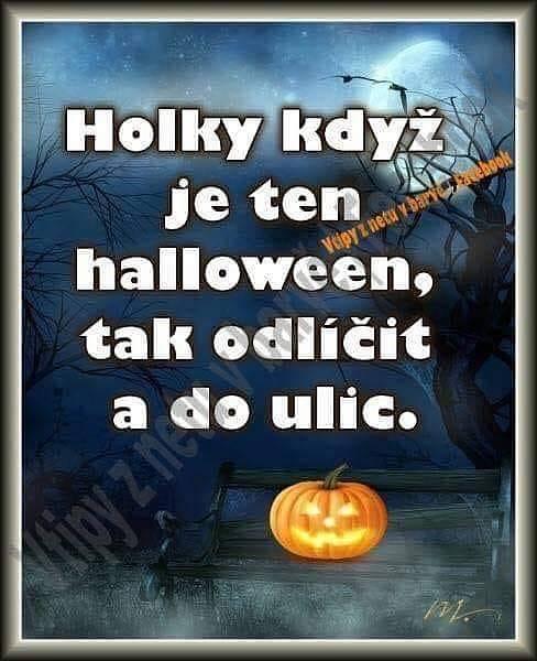 Halloween je také častým terčem internetových vtípků