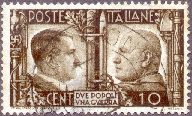Fašisticko-nacistická osa byla roku 1941propagována iitalskou poštou