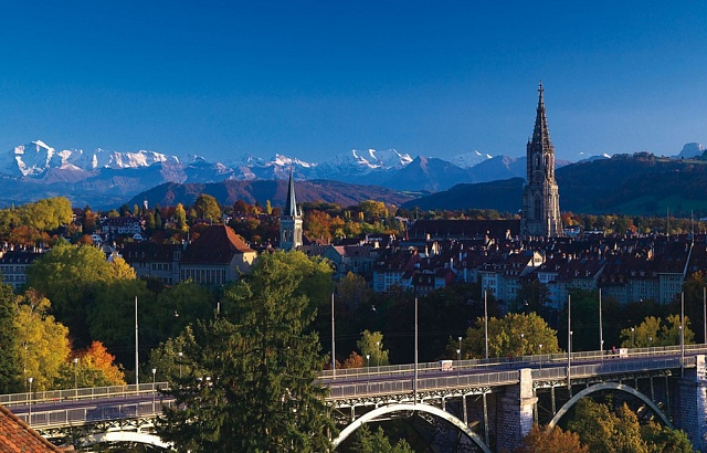 Bern je hlavním městem Švýcarska