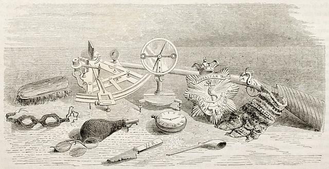 Nalezené předměty patřící členům Franklinovy expedice