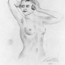 akt ženy, autor A. Hitler