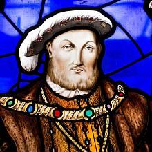 Jindřich VIII. vyobrazený v Hampton Court