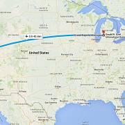 Útěk ze San Franciska do Michiganu.