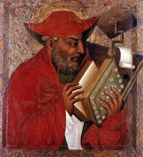 Svatý Jeroným v malbě Mistra Theodorika ze 14. století