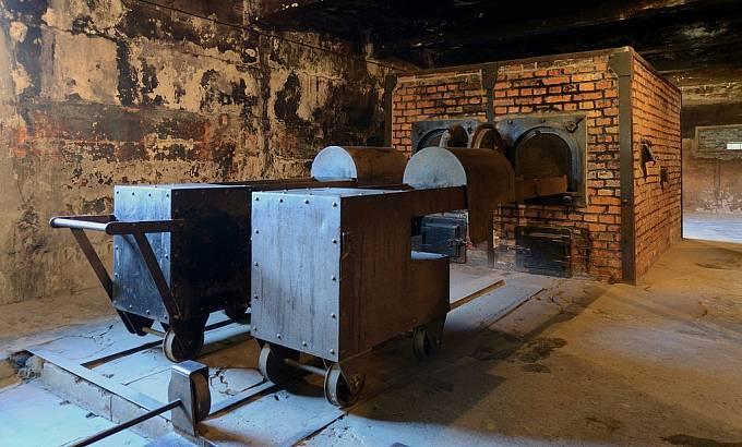 Zrekonstruované pece v Osvětimi