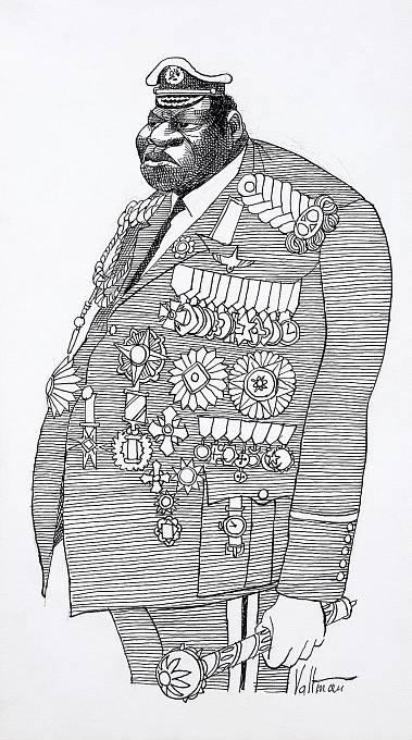 Karikatura Idi Amina