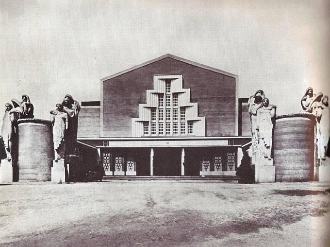 Pavilon obchodu a průmyslu na Jubilejní výstavě Obchodní a živnostenské komory na pražském Výstavišti (1908, zbořeno)