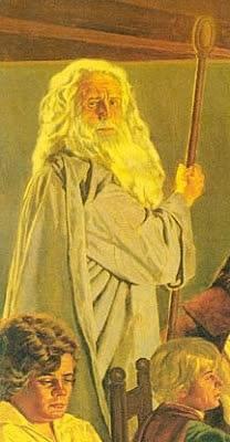 Gandalf coby andělská bytost