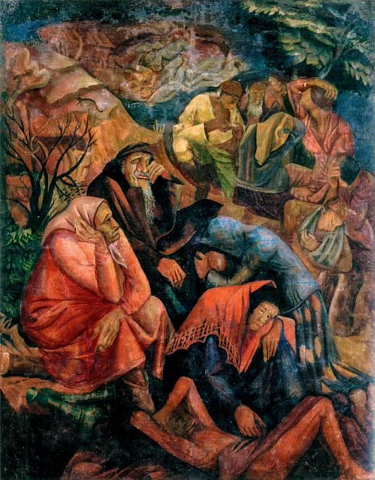 Oběti pronásledování Židů v představě ukrajinského malíře Manuila Shechtmana