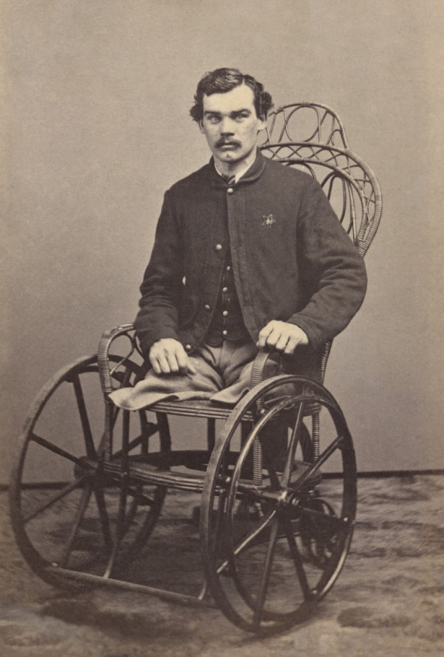 Veterán americké občanské války, který přišel oobě nohy.